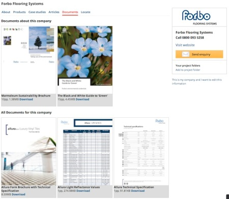 Forbo Company Documents channel ESI.info